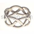 Ring aus Silberdraht, Knotenmuster