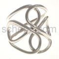 Ring aus Silberdraht, Knotenmuster, groß