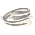 Ring aus Silberdraht mit Spirale, verstelbar