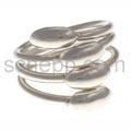 Ring aus Silberdraht mit Silbertropfen