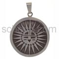 Pendant Indian jewellery, abstract sun, large (Hopi style)