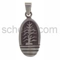 Pendant Indian jewellery, tree of life (Hopi style), oval